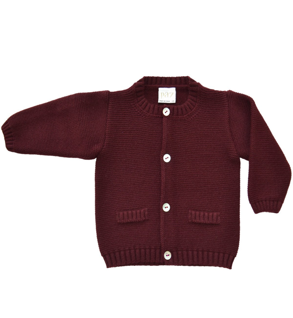 Spanish baby clothes | baby Cardigan & Coat | Burgundy cardigan |babymaC  - 1