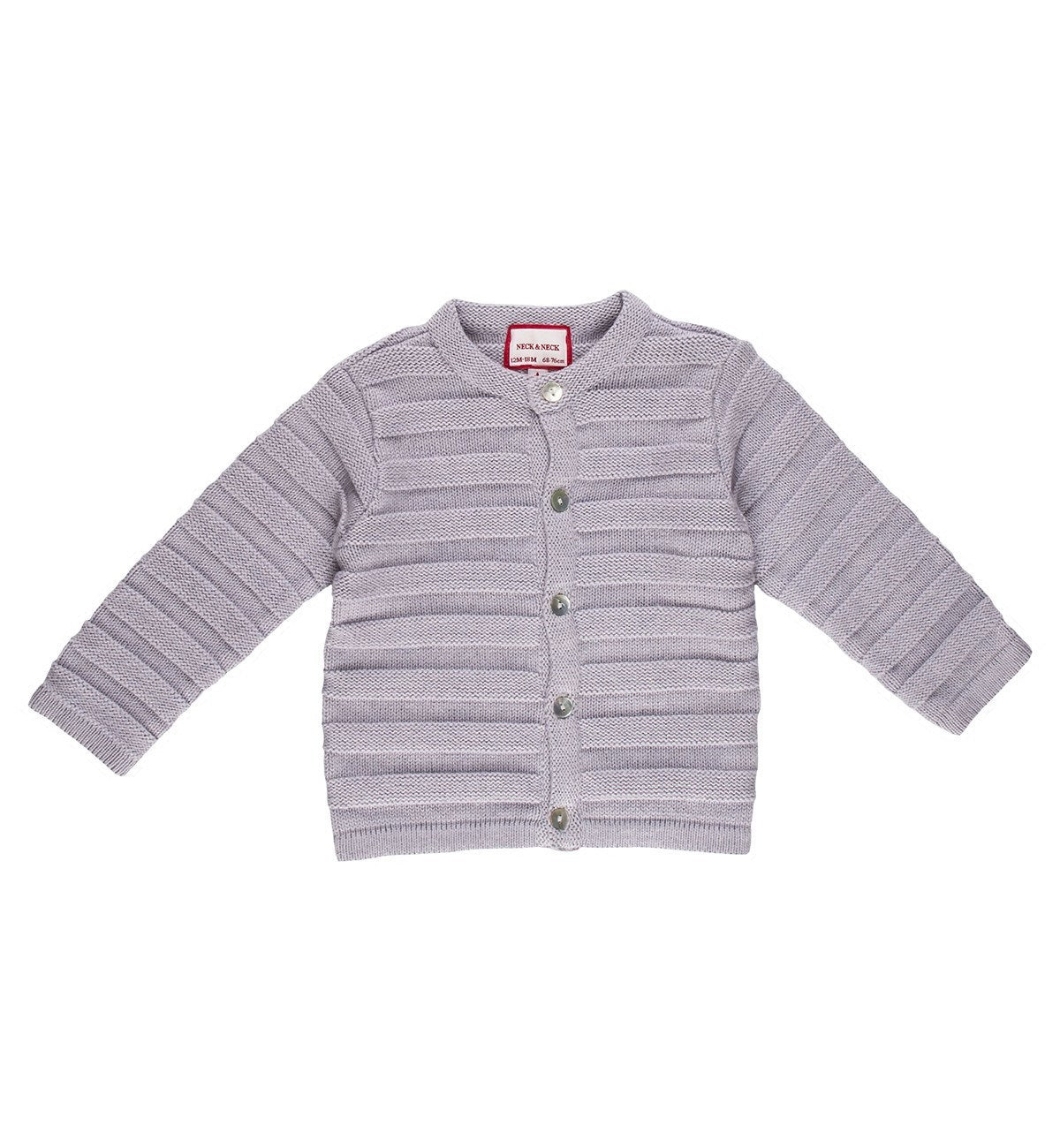 Spanish baby clothes | baby Cardigan & Coat | Pale lilac knitted cardigan |babymaC  - 1