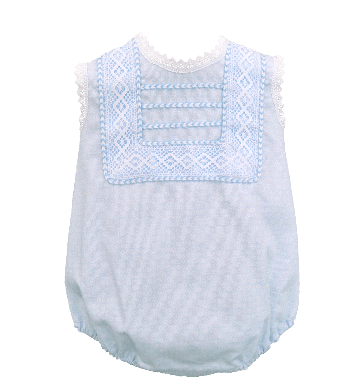 Spanish baby clothes | baby Christening dress | Blue & white Christening romper (baby boy) |babymaC  - 1