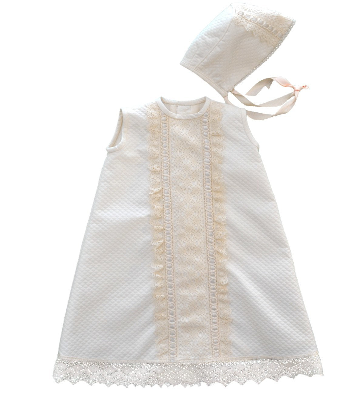 Spanish baby clothes | baby Christening dress | Christening dress & bonnet set (baby girl) |babymaC  - 1