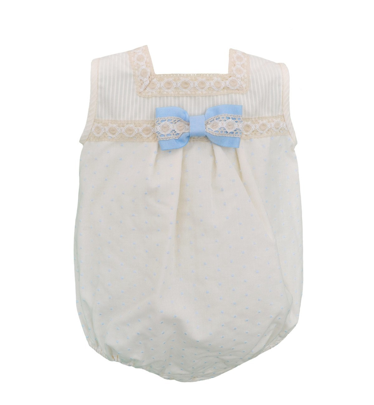Spanish baby clothes | baby Christening dress | Christening romper & bonnet set (baby boy) |babymaC  - 1