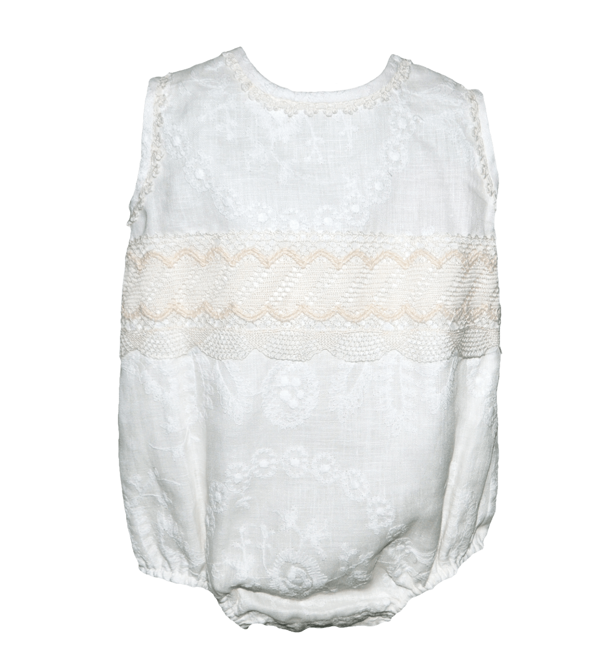 Spanish baby clothes | baby Christening romper | Ivory Christening romper (baby boy) |babymaC  - 1