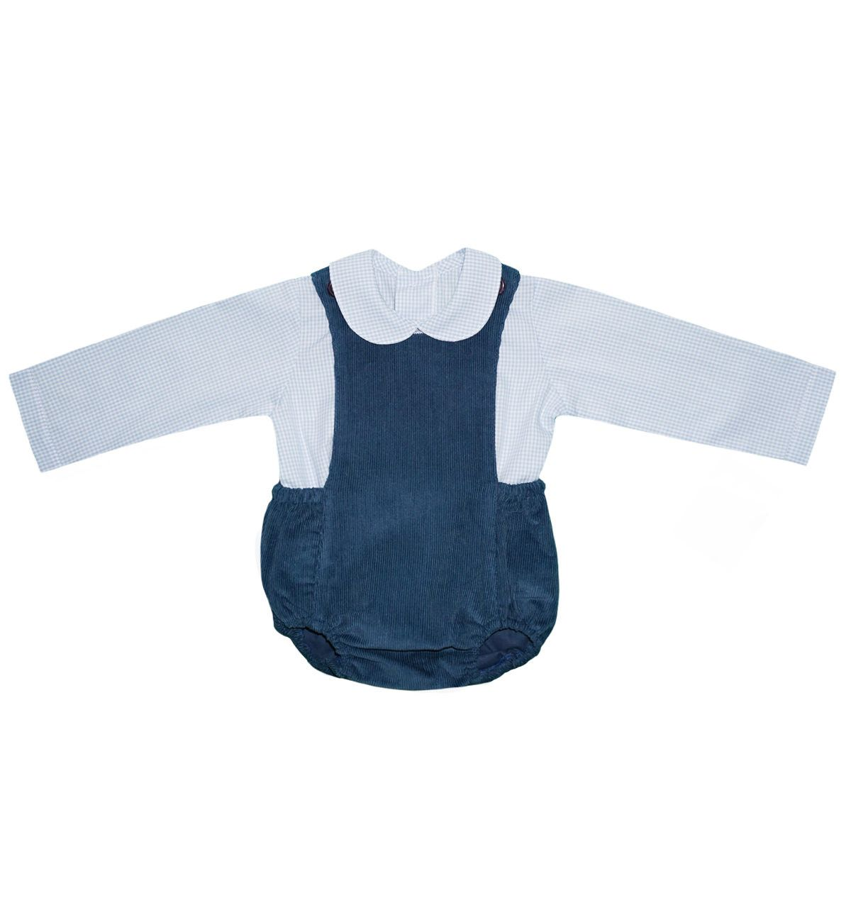 Spanish baby clothes | baby Dungaree | Two piece shorts dungaree set |babymaC  - 1