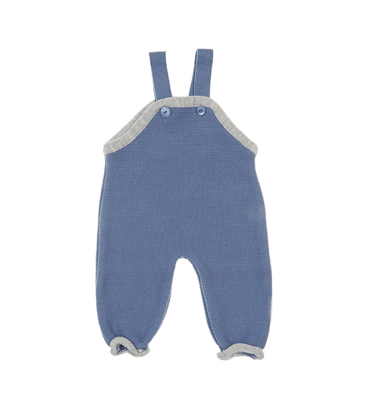 Blue Knitted dungaree