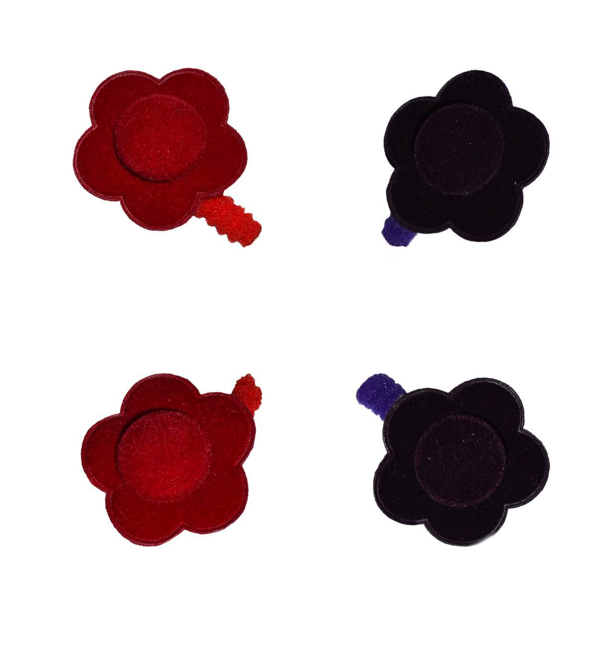 Spanish baby clothes | baby Hair accessories | Velvet flower hair ponies |babymaC  - 1