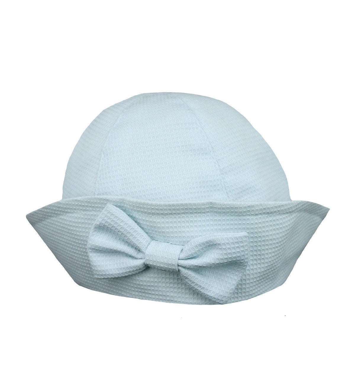 Spanish baby clothes | baby Hat | Baby blue honey pique hat |babymaC