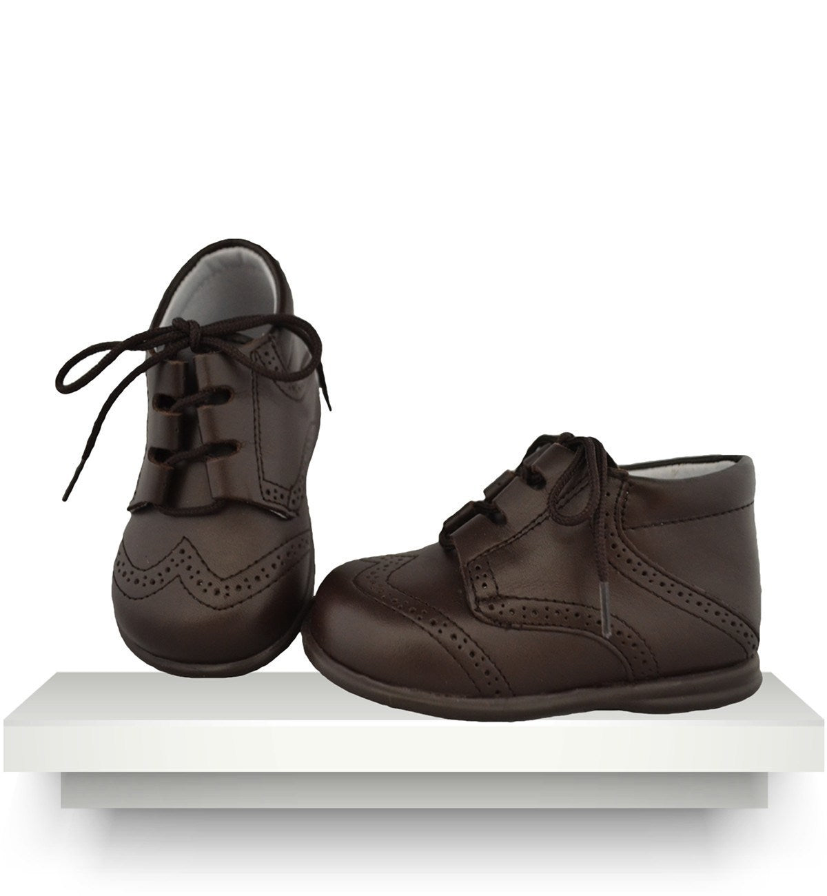 Spanish baby clothes | baby Shoes | Brown leather boots |babymaC  - 1