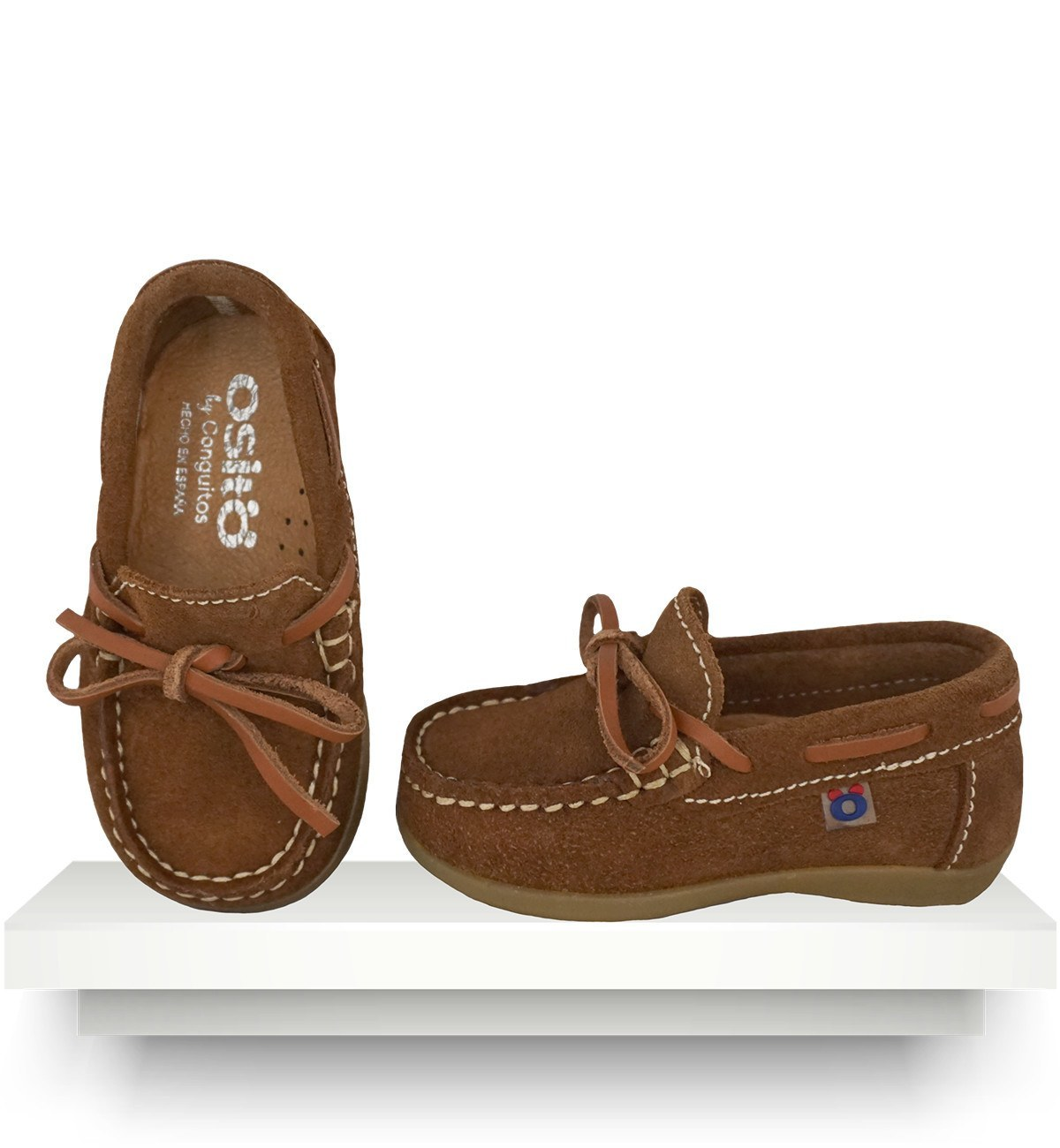 Spanish baby clothes | baby shoes | Brown moccasins |babymaC  - 1