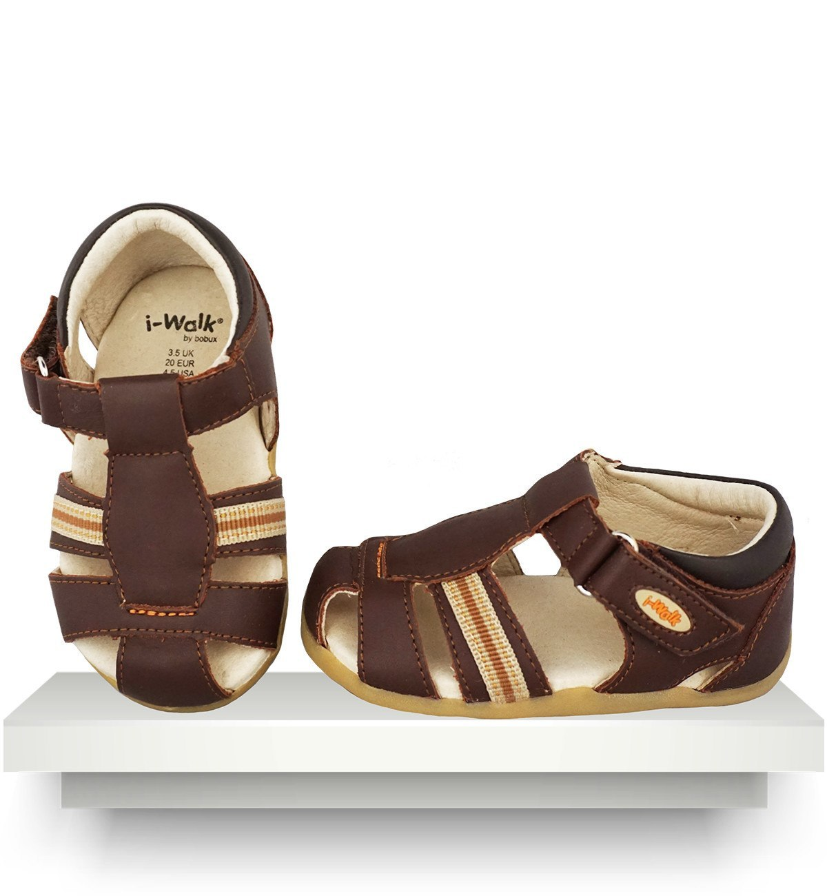 Spanish baby clothes | baby shoes | Brown sandals |babymaC  - 1