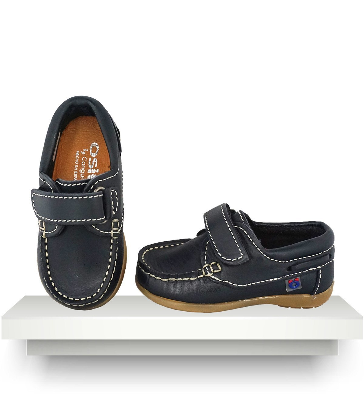 Spanish baby clothes | baby shoes | Navy blue moccasins |babymaC  - 1