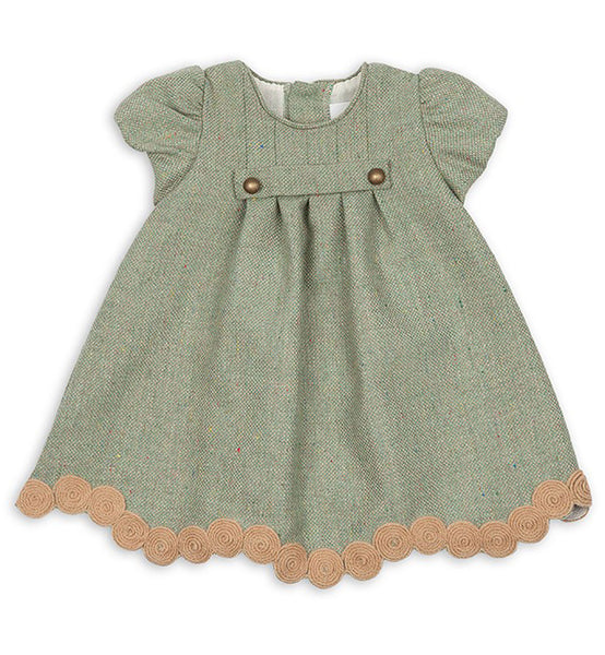 5a971b893144 amazing selection f3eaa 1ae22 spanish baby clothes baby dress green ...