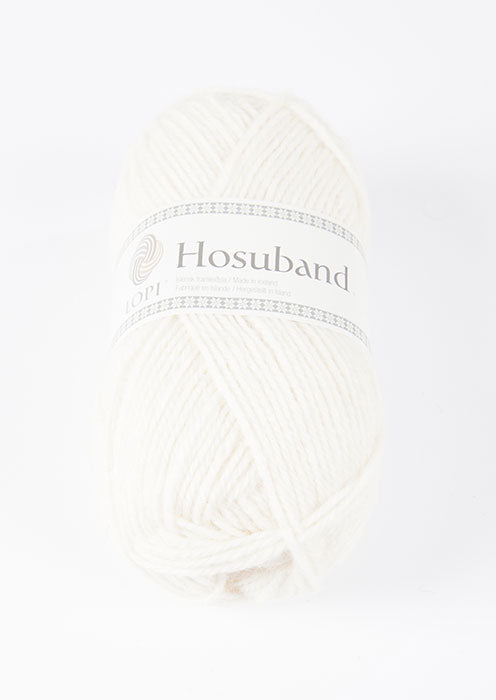 Icelandic sweaters and products - Hosuband - White 0001 Hosuband Wool Yarn - NordicStore