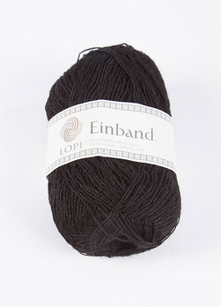 Icelandic sweaters and products - Einband 0059 Wool Yarn - Black Einband Wool Yarn - NordicStore