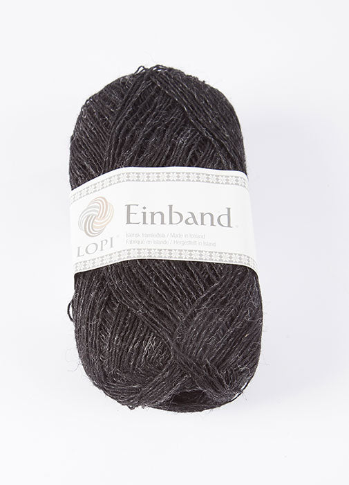 Icelandic sweaters and products - Einband 0151 Wool Yarn - Black Heather Einband Wool Yarn - NordicStore