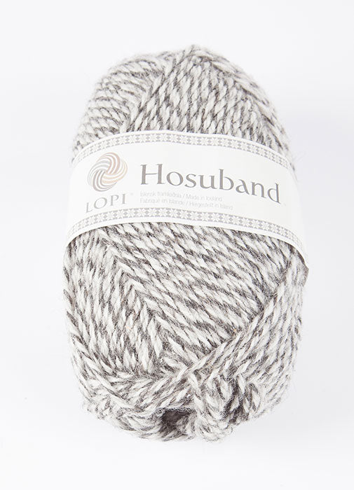 Icelandic sweaters and products - 0224 Hosuband - Grey/White Hosuband Wool Yarn - NordicStore