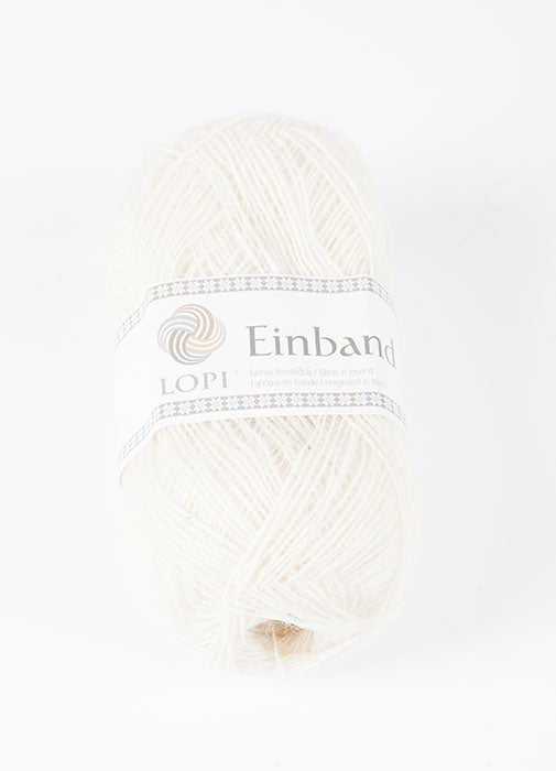 Icelandic sweaters and products - Einband 0851 Wool Yarn - White Einband Wool Yarn - NordicStore