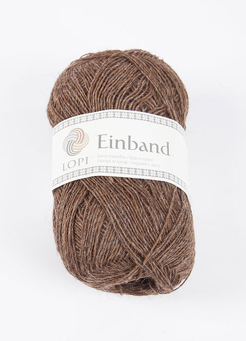 Icelandic sweaters and products - Einband 0853 Wool Yarn - Brown Einband Wool Yarn - NordicStore
