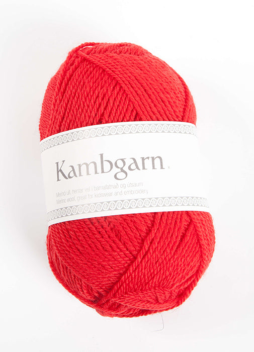 Icelandic sweaters and products - Kambgarn - 0917 Tomato Kambgarn Wool Yarn - NordicStore