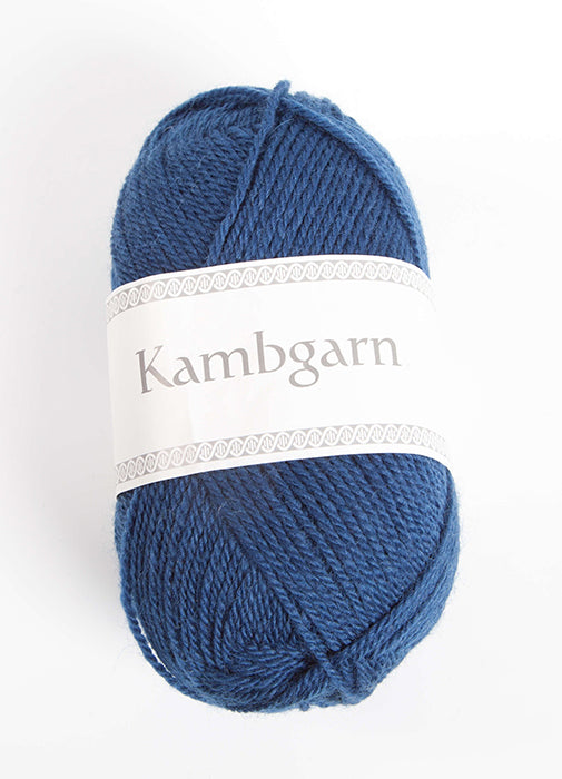 Icelandic sweaters and products - Kambgarn - 0942 Indigo Kambgarn Wool Yarn - NordicStore