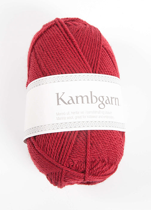 Icelandic sweaters and products - Kambgarn - 0958 Cherry Kambgarn Wool Yarn - NordicStore