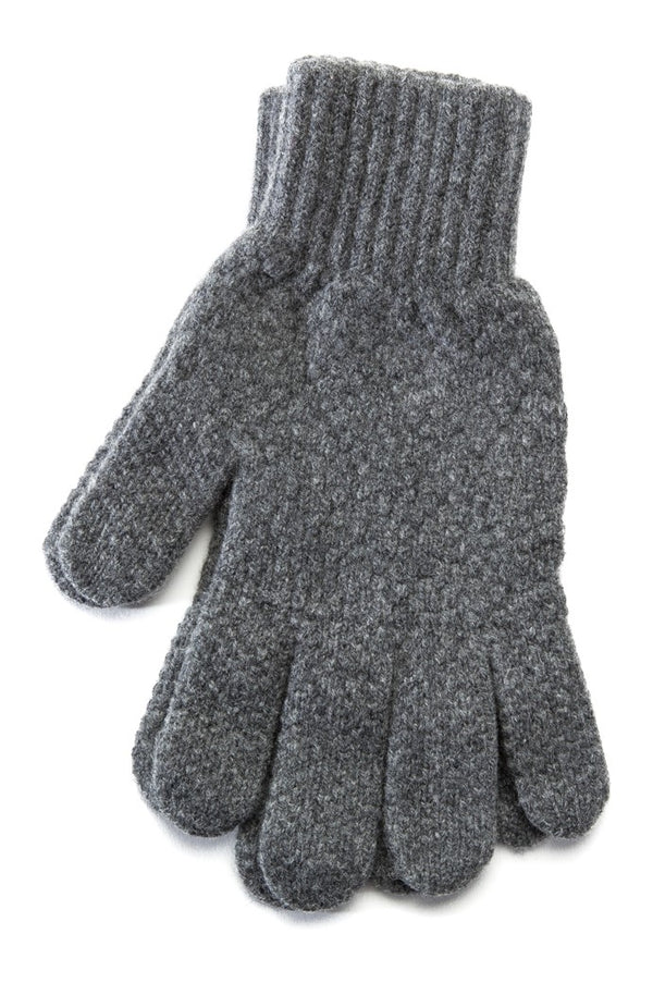 Men's Wool Gloves Grey