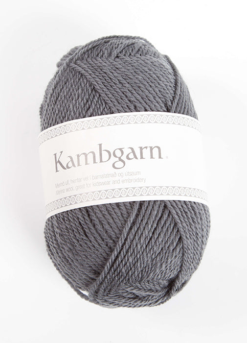 Icelandic sweaters and products - Kambgarn - 1200 Steel Grey Kambgarn Wool Yarn - NordicStore