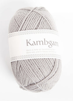 Icelandic sweaters and products - Kambgarn - 1202 Frost Grey Kambgarn Wool Yarn - NordicStore