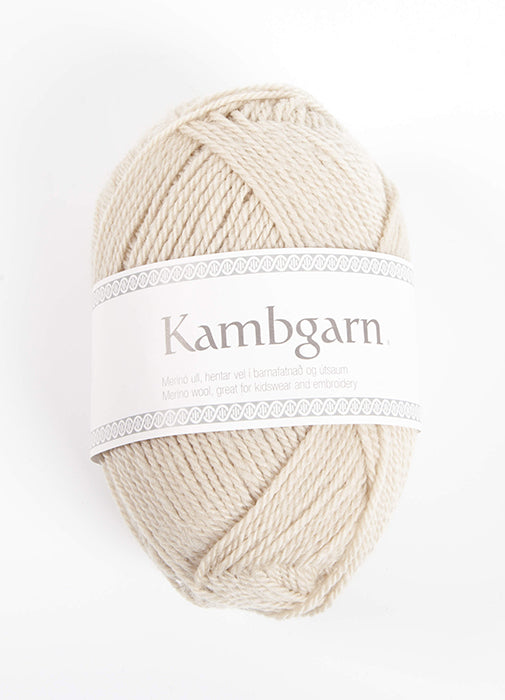 Icelandic sweaters and products - Kambgarn - 1205 Sandshell Kambgarn Wool Yarn - NordicStore