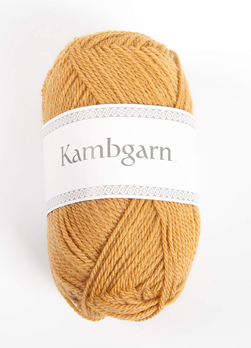 Icelandic sweaters and products - Kambgarn - 1212 Honey Kambgarn Wool Yarn - NordicStore