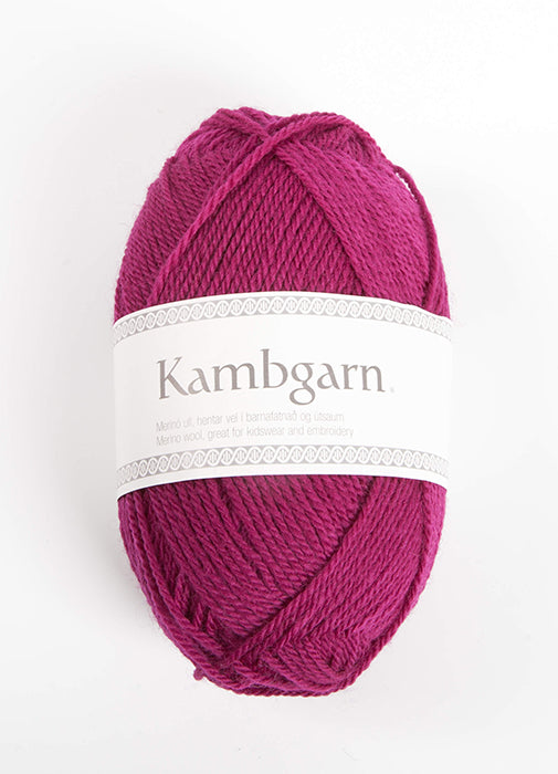Icelandic sweaters and products - Kambgarn - 1219 Sangria Kambgarn Wool Yarn - NordicStore