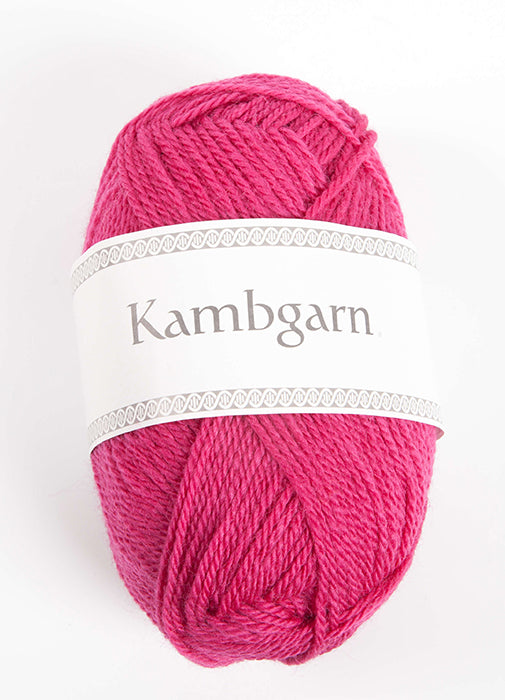 Icelandic sweaters and products - Kambgarn - 1220 Pink Dahlia Kambgarn Wool Yarn - NordicStore