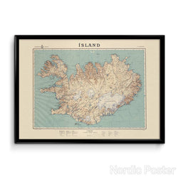 Map of Iceland from 1944