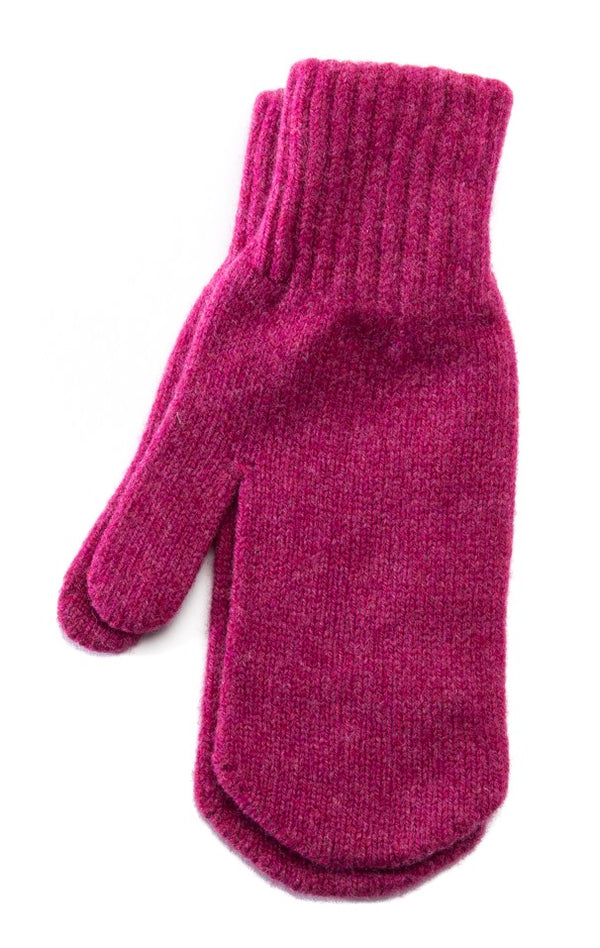 Wool Mittens Berry