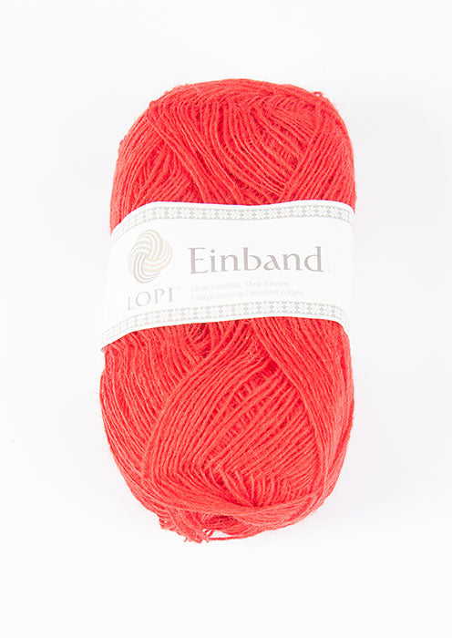 Icelandic sweaters and products - Einband 1770 Wool Yarn - Flame Red Einband Wool Yarn - NordicStore