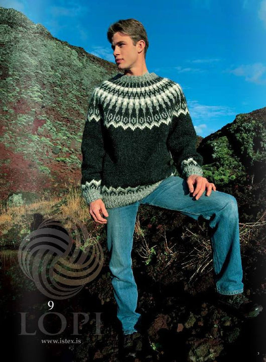 Icelandic sweaters and products - Dropar (Drops) Mens Wool Sweater Black Tailor Made - NordicStore