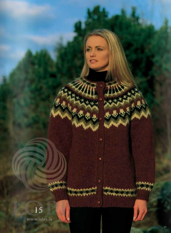 Icelandic sweaters and products - Jörð Women Wool Cardigan Red Tailor Made - NordicStore