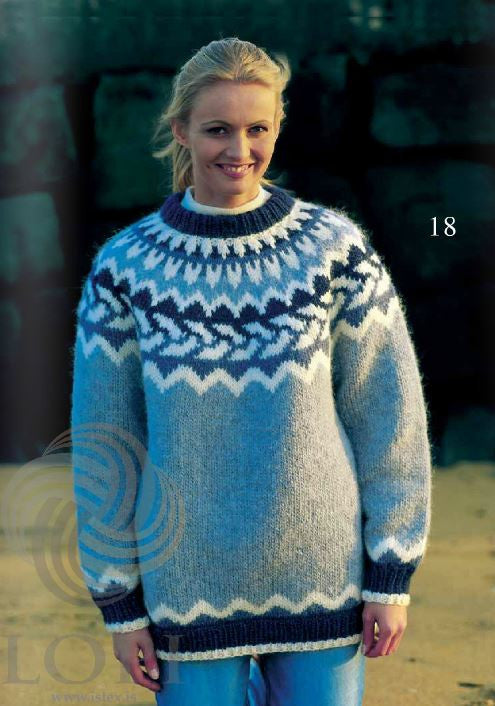 - Icelandic Saklaus (Innocent) Women Wool Sweater Light Blue - Tailor Made - Nordic Store Icelandic Wool Sweaters  - 1
