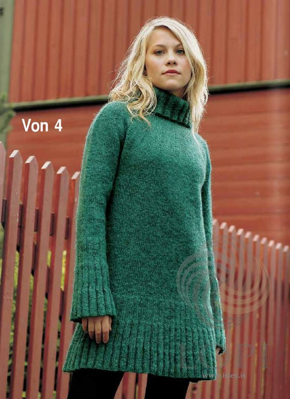 Icelandic sweaters and products - Von (Hope) Women Wool Sweater Green Tailor Made - NordicStore