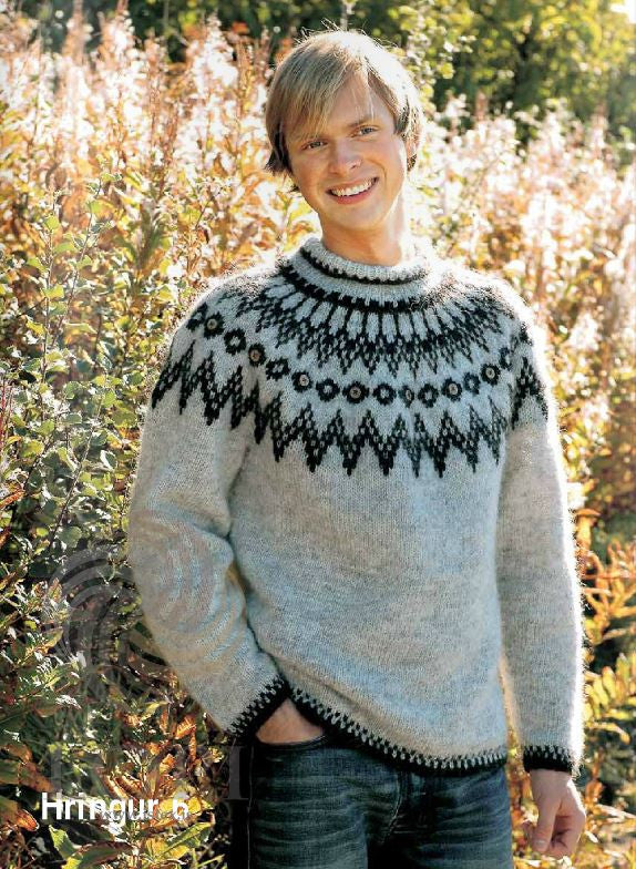 Icelandic sweaters and products - Hringur (Ring) Mens Wool Sweater Tailor Made - NordicStore