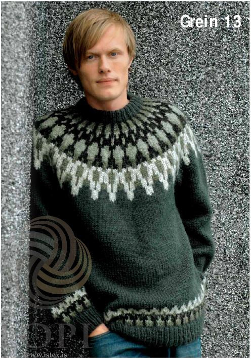 Icelandic sweaters and products - Grein (Branch) Mens Wool Sweater Tailor Made - NordicStore