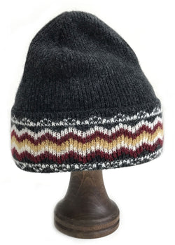 Pattern Wool Hat Grey