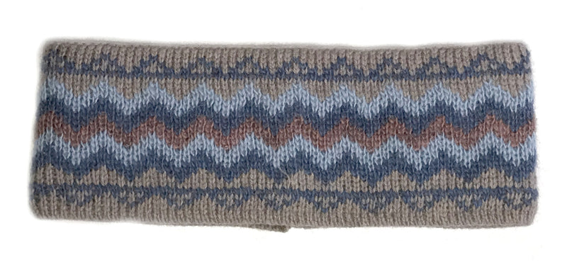 Patterned Wool Headbands Beige
