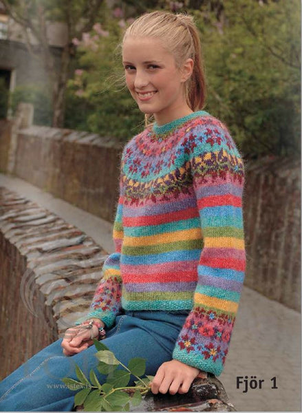 - Icelandic Fjör (Happy) Women Wool Sweater - Tailor Made - Nordic Store Icelandic Wool Sweaters  - 1