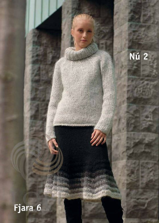 - Icelandic Nú (Now) Women Wool Sweater Grey - Tailor Made - Nordic Store Icelandic Wool Sweaters  - 1