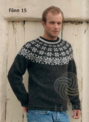 - Icelandic Fönn Mens Wool Sweater Black - Tailor Made - Nordic Store Icelandic Wool Sweaters  - 1