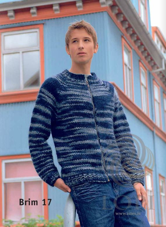 Icelandic sweaters and products - Brim (Wave) Mens Wool Cardigan Tailor Made - NordicStore