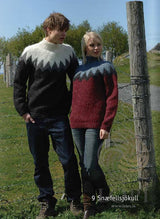 - Icelandic Snæfellsjökull Women Wool Sweater Grey - Tailor Made - Nordic Store Icelandic Wool Sweaters  - 1