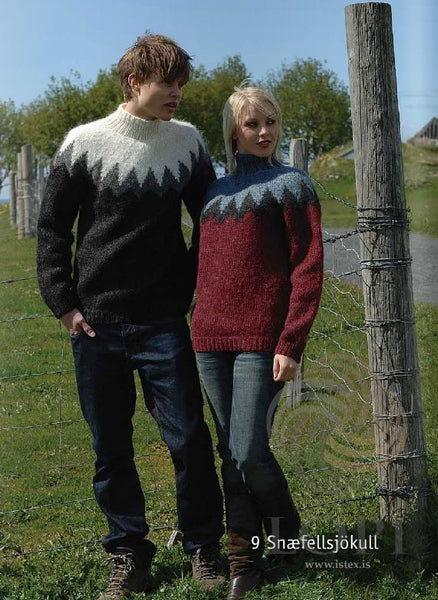 - Icelandic Snæfellsjökull Mens Wool Sweater Black - Tailor Made - Nordic Store Icelandic Wool Sweaters  - 1