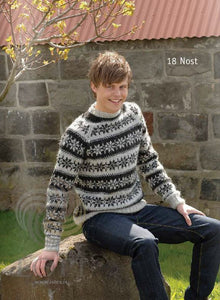 767bee635c Icelandic Nost Mens Wool Sweater Grey - Tailor Made - Nordic Store  Icelandic Wool Sweaters