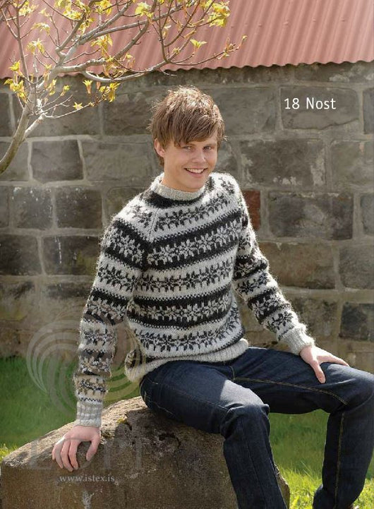 - Icelandic Nost Mens Wool Sweater Grey - Tailor Made - Nordic Store Icelandic Wool Sweaters  - 1